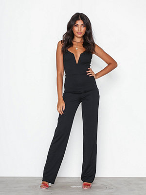 Jumpsuits & playsuits - NLY One Metal Bar Plunge Jumpsuit Black