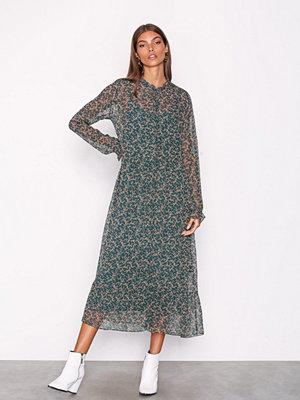 Neo Noir Tammy Printed Dress Green