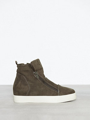Duffy Wedge Zip Sneaker Khaki