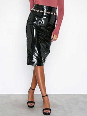 NLY One Patent Midi Skirt