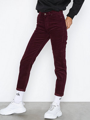 Lee Jeans Mom Straight Burgundy Burgundy