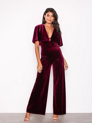 U Collection Velvet Jumpsuit
