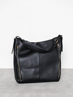 Handväskor - Topshop Hailee Zip Hobo Bag Black