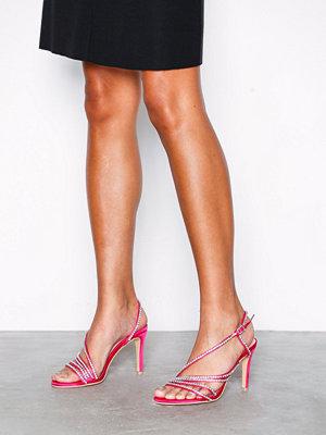 Pumps & klackskor - NLY Shoes Multi Rhinestone Strap Heel Rosa