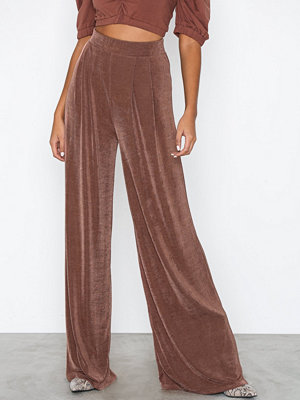 NLY Trend byxor Glamorous Palazzo Pants Ljus Brun