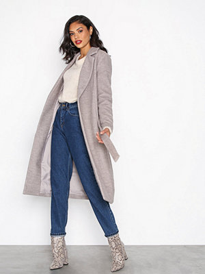 Only onlAMY Sharon Long Wool Coat Cc Otw Ljus Brun