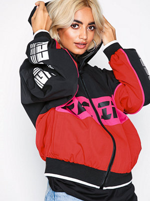 Missguided bomberjacka med tryck Racing Colour Block Windb Pink