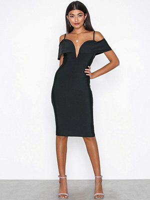 Missguided Rib Binding Detail Dress