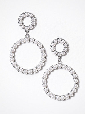 Glamorous örhängen Circle Drop Earrings Silver