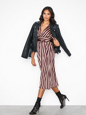 Neo Noir Cindy Broad Stripe Dress Red