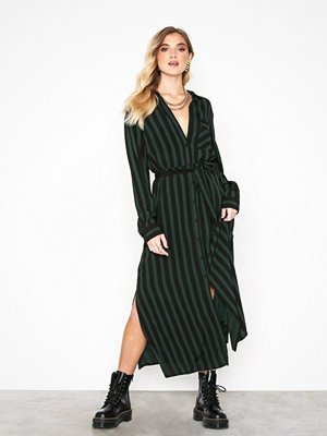 Selected Femme Slfflorenta Ls Ankle Shirt Dress B Svart