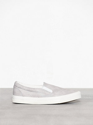 New Look Faux Snakeskin Slip On Trainers Grey