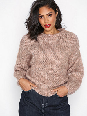 Selected Femme Slfhai Ls Knit Crop O-Neck B