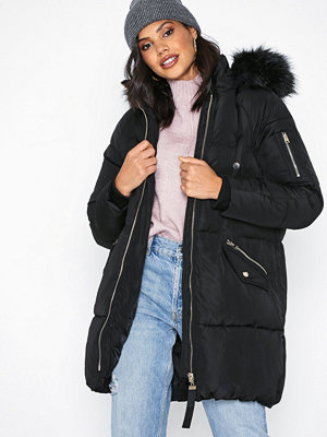 River Island Puffer Jacket Black