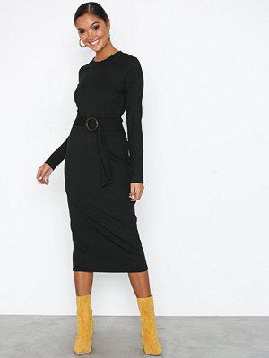 NLY Trend Buckle Belt Dress Svart