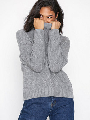 Selected Femme Slfcarmi Ls Knit Rollneck B