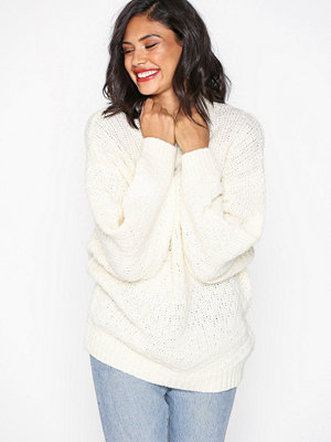 Selected Femme Slfhilla Ls Knit Oversize O-Neck B Cream