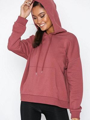 Street & luvtröjor - NLY Trend Basic Box Hoodie Rostbrun