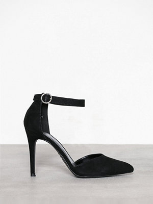 New Look Suedette Buckle Strap Heels Black