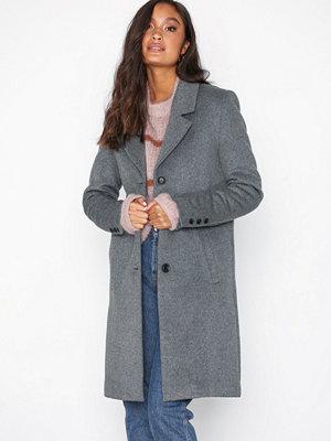 Selected Femme Slfsasja Wool Coat Noos B Grå
