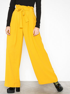 River Island gula byxor Wide Leg Trousers Yellow