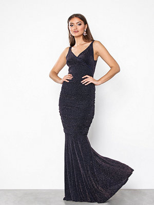 Honor Gold Gabriella Shimmer Maxi Dress Navy