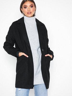 Topshop Slouch Coat Black