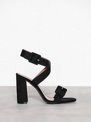 Topshop Sazzle Two Part Sandals Black