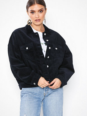 Jacqueline de Yong svart bomberjacka Jdyelya Oversized Jacket Heavy Cord Mörk Blå