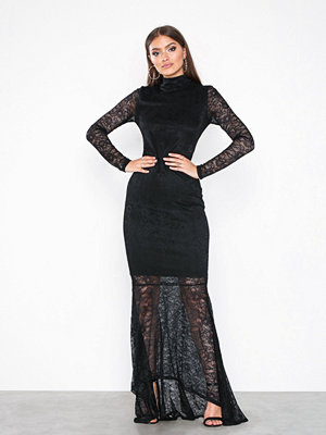 Vila Virigmor L/S Maxi Dress Svart