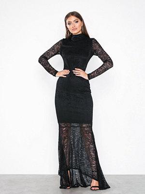 Vila Virigmor L/S Maxi Dress Svart