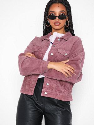 Jacqueline de Yong Jdyelya Oversized Jacket Heavy Cord Lila