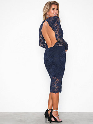 Honor Gold Vanessa Lace Midi Dress Navy