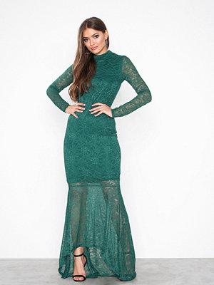 Festklänningar - Vila Virigmor L/S Maxi Dress Mörk Grön