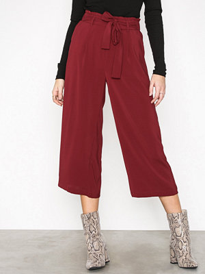 New Look vinröda byxor Tie Crop Waist Wine