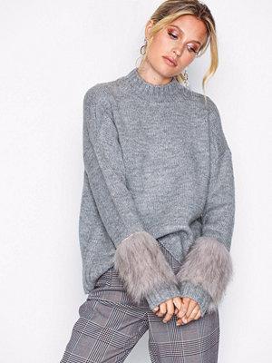 Tröjor - Vero Moda Vmemeli Ls Mockneck Fake Fur Cuff B