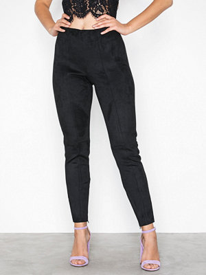 Only onlJULIE Faux Suede Bonded Leggings Svart