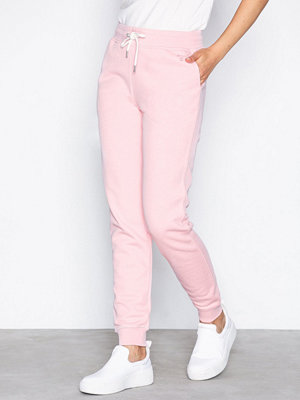 Gant cremefärgade byxor Tonal Shield Sweat Pants Pink