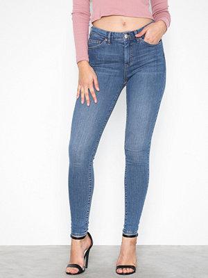 Topshop MOTO Mid Blue Sidney Jeans Denim