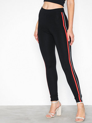 Leggings & tights - Topshop Side Stripe Leggings Black