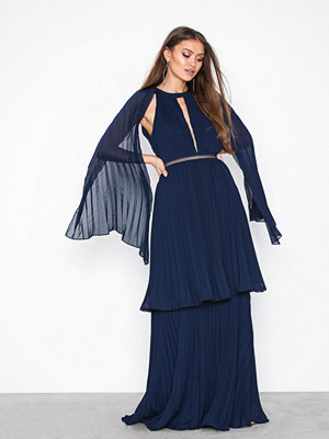 True Decadence Long Sleeve Frill Dress Navy