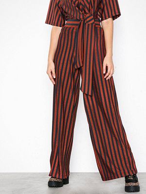 River Island randiga byxor Brown Stripe Trouser Brown
