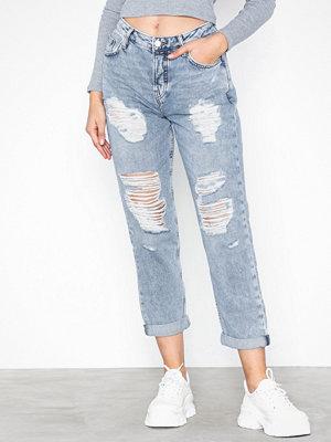 Topshop Bleach Super Rip Hayden Boyfriend Jeans