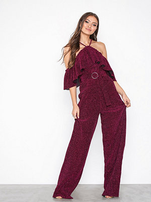 U Collection Offshoulder Jumpsuit Magenta