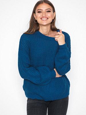 Tröjor - Jacqueline de Yong Jdyhanni L/S Pullover Knt Mörk Blå