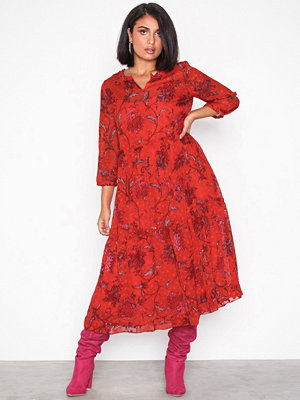 Only wfCELINE 3/4 Dress Wvn Red
