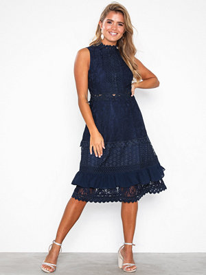 True Decadence Short Sleeve Lace Dress Navy