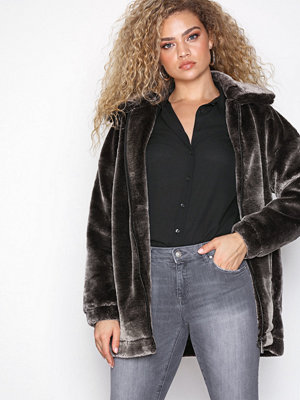 Missguided Oversized Faux Fur Jacket