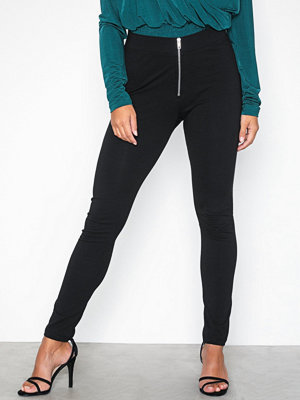 Leggings & tights - NLY Trend Zipper Leggings Svart