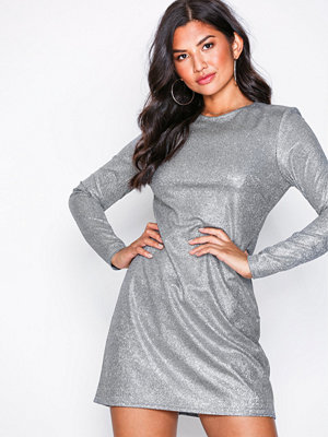 NLY Trend Sparkle Shimmer Dress Silver